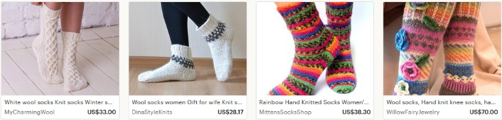 Как продавать вязанные носки на Etsy