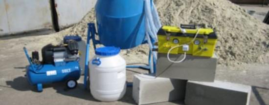 'Оборудование для производства пеноблоков в домашних условиях – изготовление пенобетона своими руками: формы, пенообразователь, пеногенератор